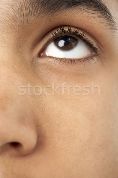 Közelkép fiatal fiúk szem gyerekek gyermek Stock fotó © monkey_business