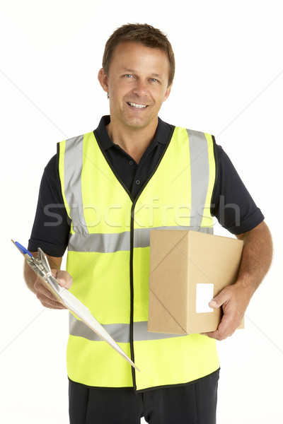 Courier Holding A Parcel And Clipboard Stock photo © monkey_business