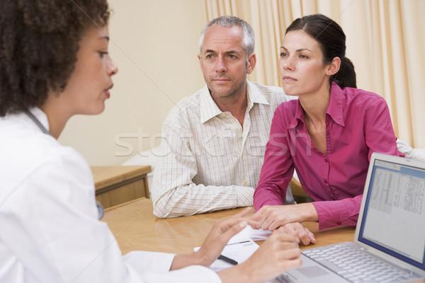 врач ноутбука пару человека говорить Сток-фото © monkey_business