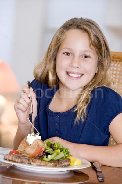 Сток-фото: еды · продовольствие · ребенка · домой · таблице