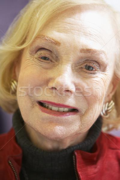 Femme heureux portrait personne supérieurs émotion Photo stock © monkey_business