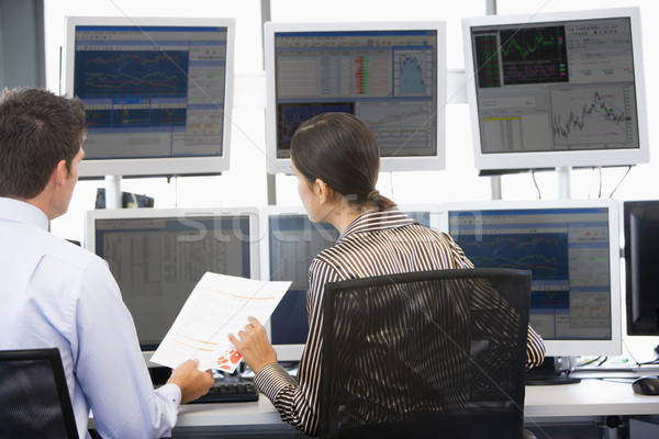 Stock Traders Viewing Monitors Stock photo © monkey_business