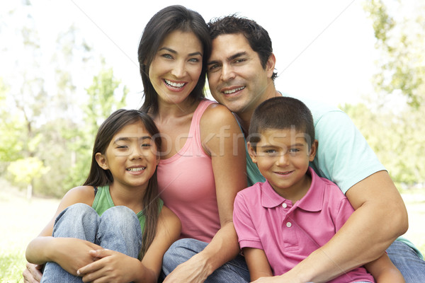 Portrait jeunes famille parc enfants homme Photo stock © monkey_business