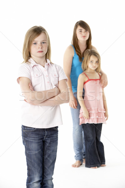 Group Of Girls Together In Studio Looking Unhappy Stock photo © monkey_business
