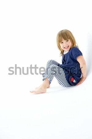 Fiatal lány ül lány gyerekek boldog fiatal Stock fotó © monkey_business