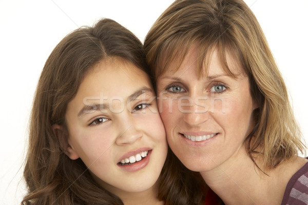 Studio Portrait Of Mother And Daughter Stock photo © monkey_business