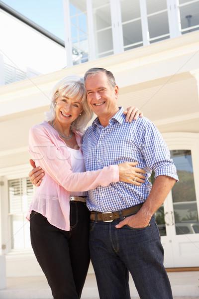Photo stock: Couple · de · personnes · âgées · permanent · à · l'extérieur · rêve · maison · maison
