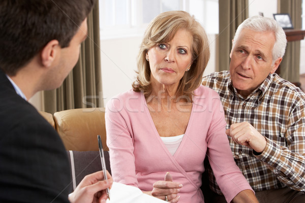 Senior Couple Talking With Financial Advisor Stock photo © monkey_business