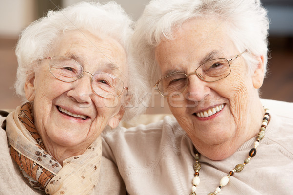 Two Senior Women Friends At Day Care Centre Stock photo © monkey_business