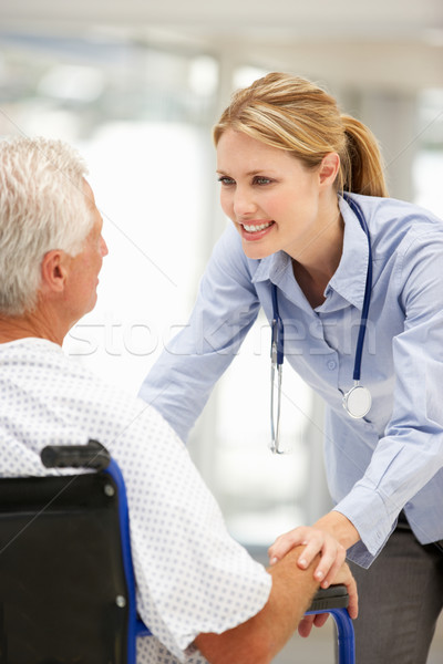 Senior patient with young doctor Stock photo © monkey_business