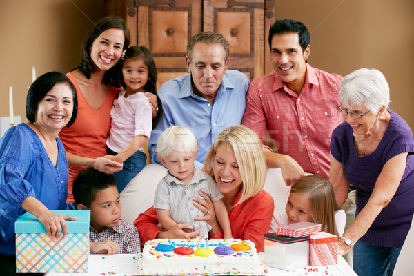Multi Generation Family Celebrating Children's Birthday Stock photo © monkey_business
