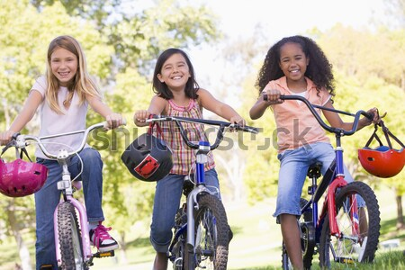 Grandparents And Grandchildren On Cycle Ride In Countryside Stock photo © monkey_business