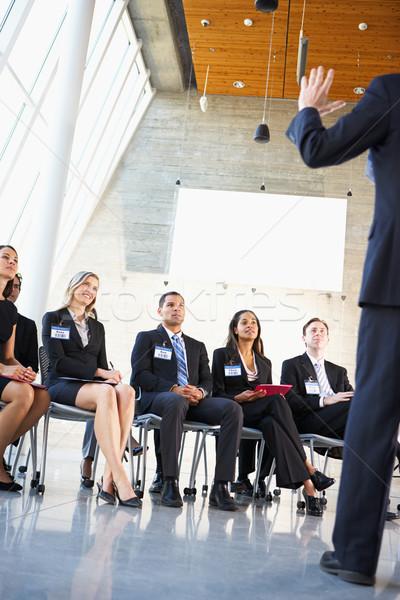 Сток-фото: прослушивании · оратора · конференции · бизнеса · женщины · мужчин