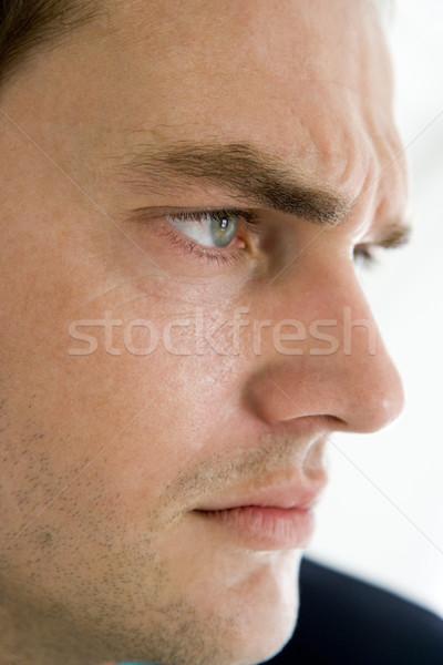 Сток-фото: голову · выстрел · человека · мышления · лице · портрет