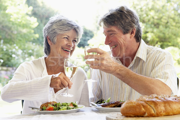 Couple Eating An Al Fresco Meal Stock photo © monkey_business