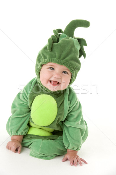 赤ちゃん エンドウ ポッド 衣装 笑みを浮かべて 楽しい ストックフォト © monkey_business