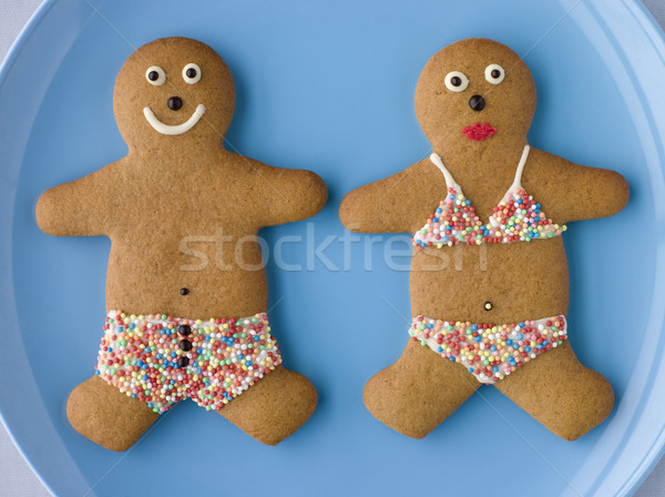 Gingerbread People with Sugar Candy Swimwear Stock photo © monkey_business