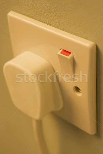 Electric Plug Connected To Outlet Stock photo © monkey_business