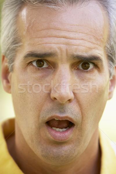 Zdjęcia stock: Portret · zdziwiony · człowiek · osoby · starszy