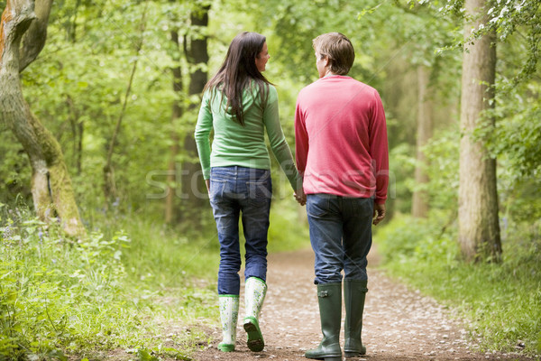 Couple walking on path holding hands Stock photo © monkey_business