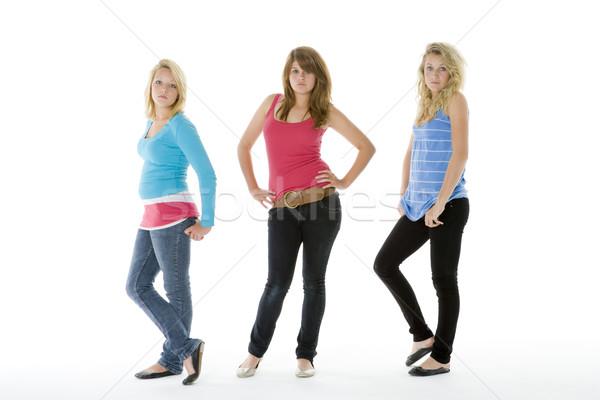 Retrato adolescentes amigos cor em pé Foto stock © monkey_business