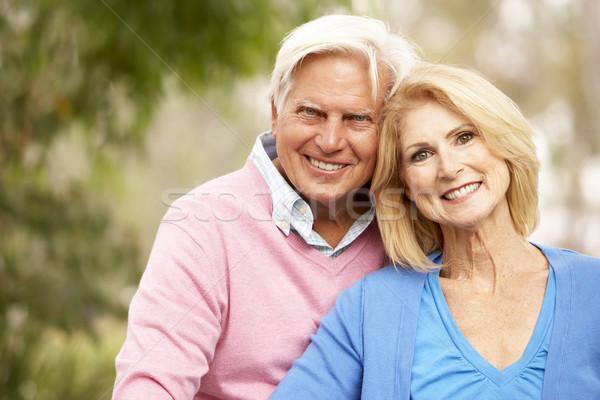 портрет человека счастливым пару саду Сток-фото © monkey_business