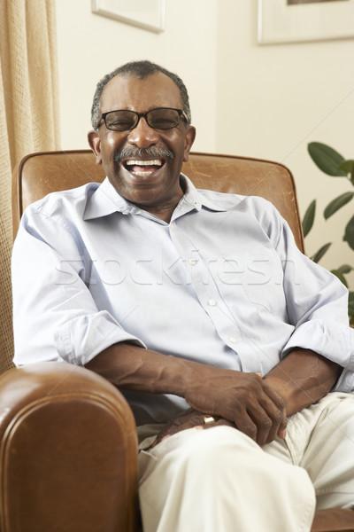Сток-фото: старший · человека · расслабляющая · Председатель · домой · счастливым