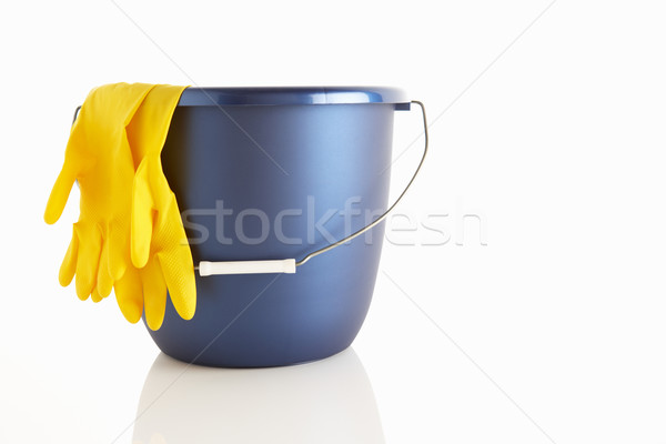 Bucket and rubber gloves Stock photo © monkey_business