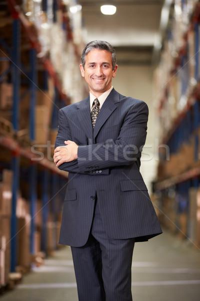 Сток-фото: портрет · менеджера · склад · человека · бизнесмен · окна