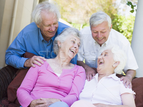 Group of senior friends laughing Stock photo © monkey_business