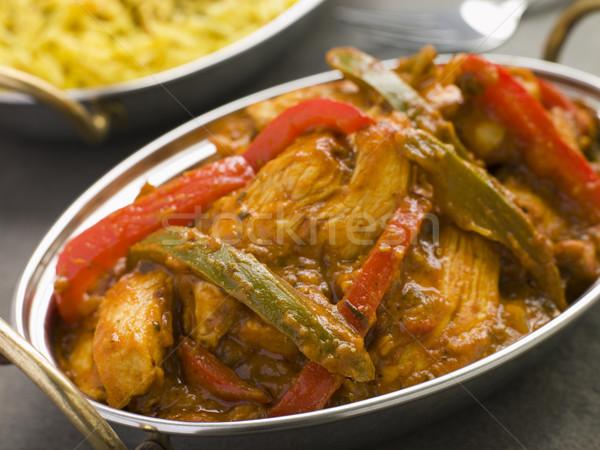 Chicken Jalfrezi Restaurant Style Stock photo © monkey_business