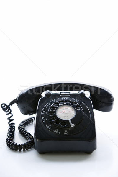 Studio Shot Of A Black Rotary Phone Stock photo © monkey_business