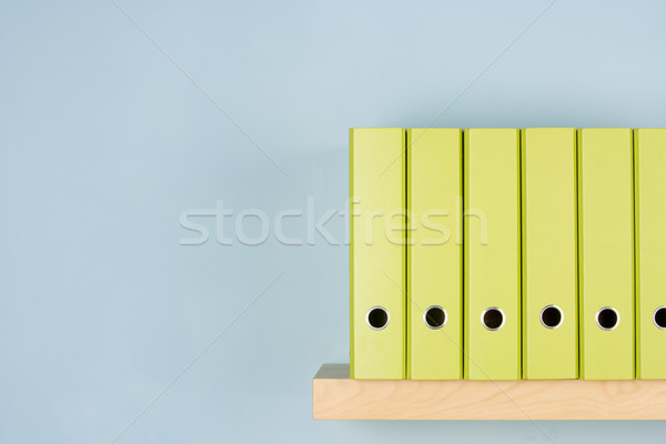 Row Of Green Ring Binders Stock photo © monkey_business