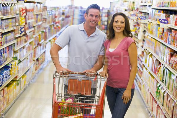 Foto stock: Mercearia · compras · supermercado · mulher · comida