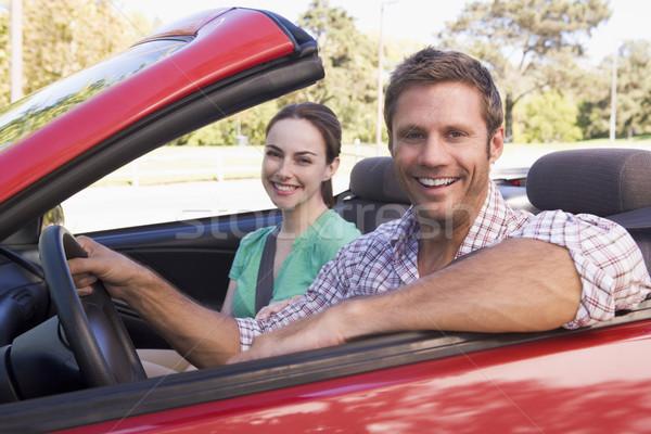 Stockfoto: Paar · auto · glimlachend · man · gelukkig · mannelijke