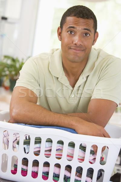 Stockfoto: Man · wasserij · kleding · kleur · permanente