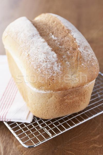 Fresco pão pão resfriamento arame cremalheira Foto stock © monkey_business