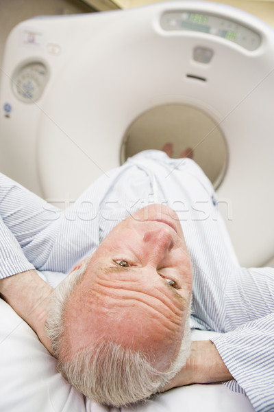 Patient About To Have A Computerized Axial Tomography (CAT) Scan Stock photo © monkey_business