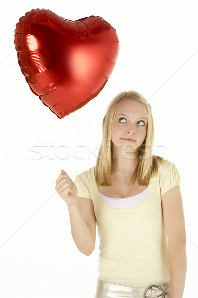 Adolescente ballon amour coeur beauté Photo stock © monkey_business