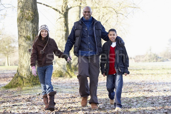 Father And Children On Autumn Walk Stock photo © monkey_business