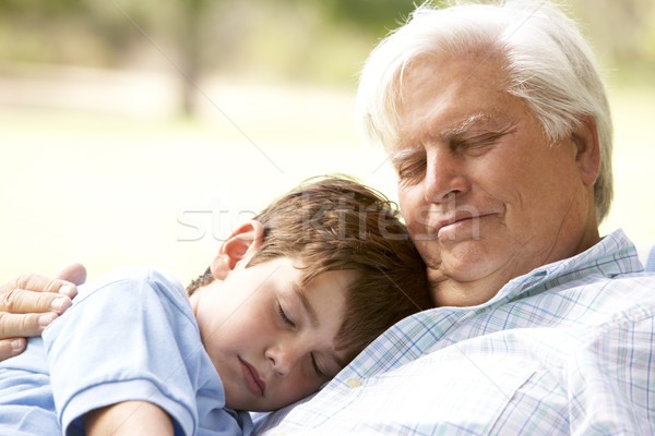 Grand-père petit-fils sieste ensemble heureux Photo stock © monkey_business