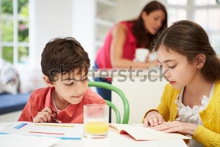 Grupo primário professor trabalhando escolas Foto stock © monkey_business