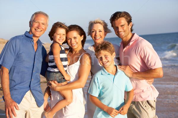 Portrait Of Three Generation Family On Beach Holiday Stock photo © monkey_business