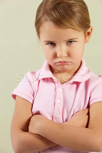 Studio Shot Of Angry Young Girl Stock photo © monkey_business