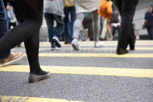 Close Up Of Commuters Feet Crossing Busy Hong Kong Street Stock photo © monkey_business