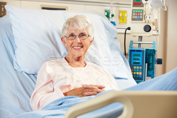 Portrait Of Senior Female Patient Relaxing In Hospital Bed Stock photo © monkey_business