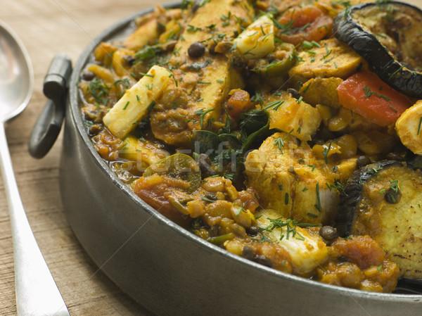 Pewter Dish Of Vegetable Dhansak Stock photo © monkey_business