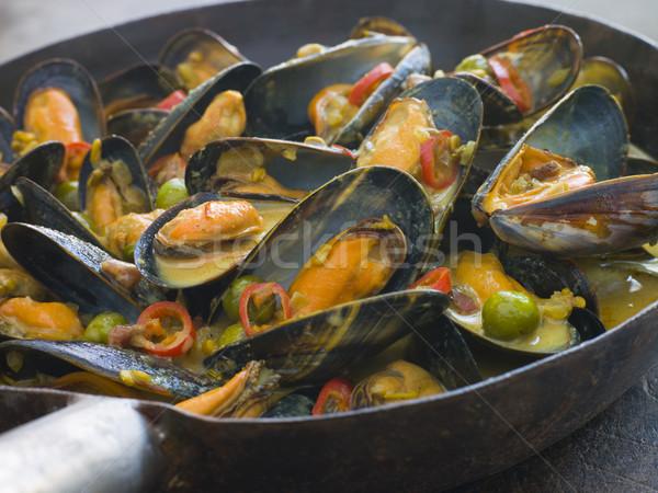Mussels Cooked Bangladeshi Rezala Style Stock photo © monkey_business