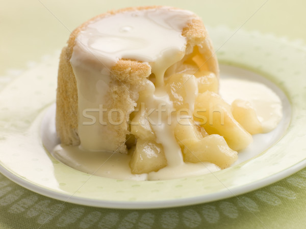 Hot Apple Charlotte with Custard Stock photo © monkey_business