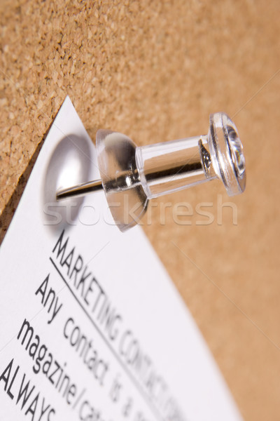 Close Up Of Thumbtack In Bulletin Board Stock photo © monkey_business
